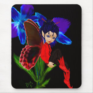 orchid blue mouse pad