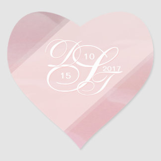 Orchid Blush Heart Stickers