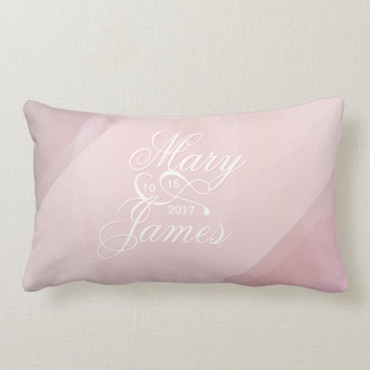 Orchid Blush Wedding Pillow