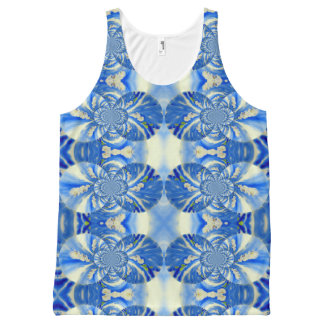 Orchid Breeze mandala pattern All-Over-Print Tank Top