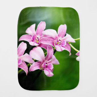 orchid burp cloth