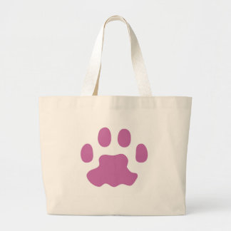 Orchid Cat Paw Large Tote Bag