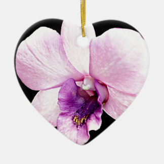 Orchid Ceramic Heart Ornament