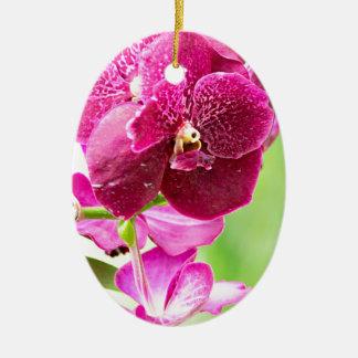 orchid ceramic ornament