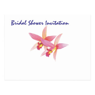 Orchid Cheap Inexpensive Bridal Shower Party Postcard