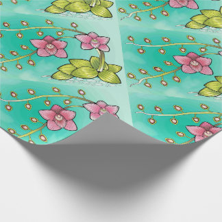 Orchid Color Design Wrapping Paper
