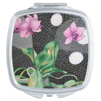 Orchid compact mirror