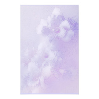 orchid dreams lavender stationery