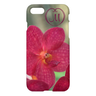 Orchid Faces monogram pink iPhone 7 glossy iPhone 7 Case