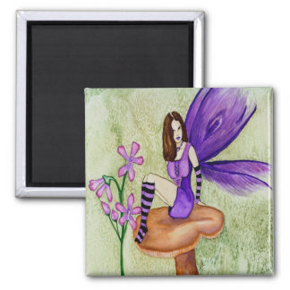 Orchid Fairy Square Magnet