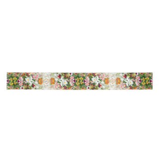 Orchid Floral Flower Tropical Haeckel Satin Ribbon