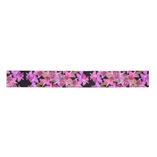 Orchid Floral Flowers Tropical Satin Ribbon