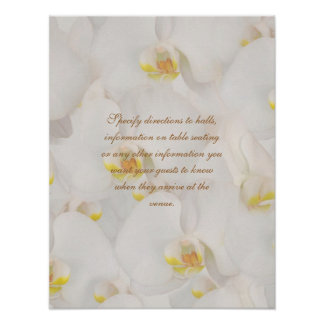 Orchid flower banquets, functions direction signs