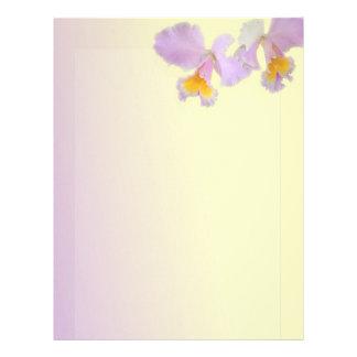 Orchid flowers beautiful  letterhead, stationery customized letterhead