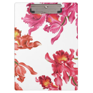 Orchid Flowers Clipboard