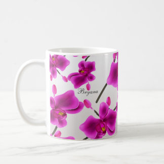 Orchid Flowers Elegant Floral Coffee Mug