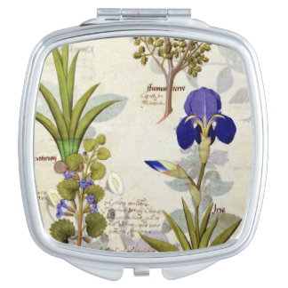 Orchid & Fumitory or Bleeding Heart Hedera & Iris Mirror For Makeup