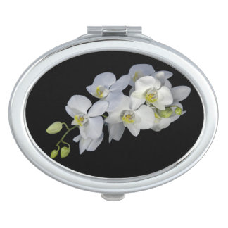 Orchid Garland Compact Mirror