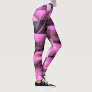 Orchid Glass Abstract Leggings pink, black camo