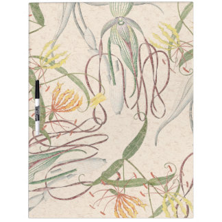 Orchid Glory Lily Flowers Dry Erase Board