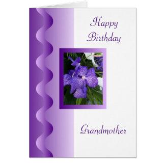 Orchid Grandmother Birthday Card