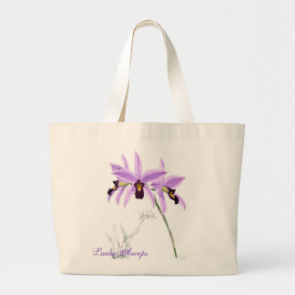 Orchid Laelia Anceps Large Tote Bag