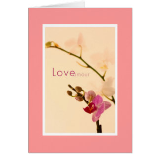 Orchid Love Amour Card