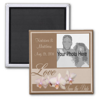 Orchid Love/ Photo Square Magnet