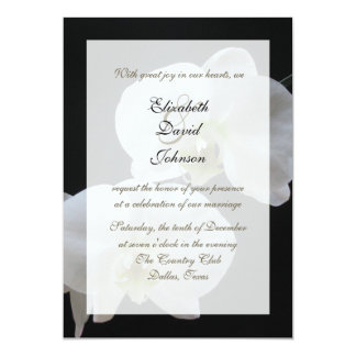 Orchid Marriage Reception Only Wedding Invitation