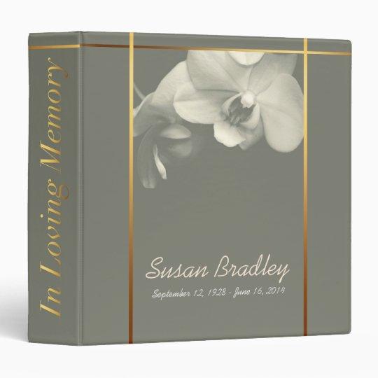 Orchid Memorial Remembrance Book Custom Binder