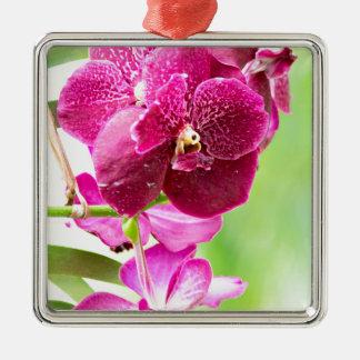 orchid metal ornament