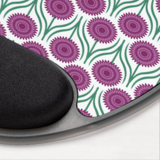 Orchid Modern Floral Pattern-White Gel Mouse Pad