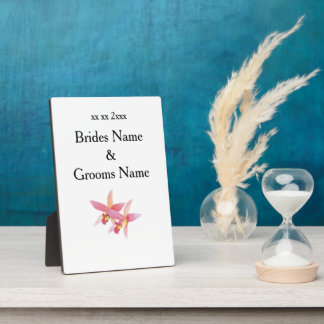 Orchid Modern Simple Elegant WeddingIdeas Plaque