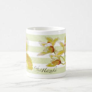 orchid mug with cafe hazuki logo2