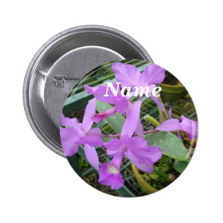 Orchid -- National Flower of Costa Rica, Name Tag 2 Inch Round Button