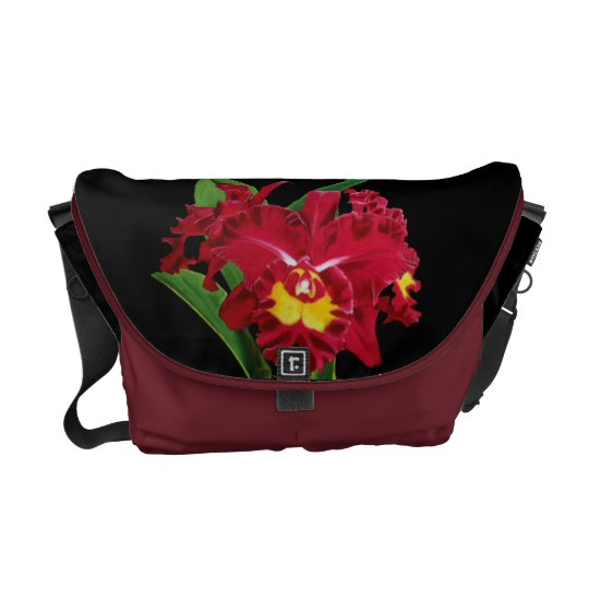 Orchid Oil Painting Medium Messenger Bag