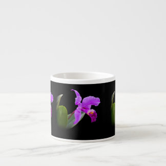 Orchid on Black Customizable Specialty Mug