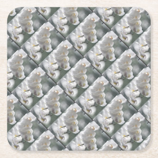Orchid Party Personalize Destiny Destiny'S Square Paper Coaster