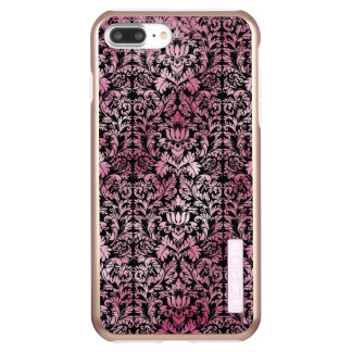 Orchid Pink Floral Damask Aged Print Pattern Incipio DualPro Shine iPhone 8 Plus/7 Plus Case
