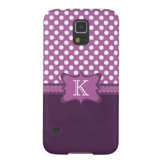 Orchid Polka Dot Monogram Samsung Galaxy S45 Case