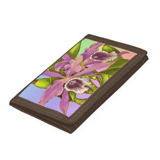 Orchid Pop Tri-fold Wallets