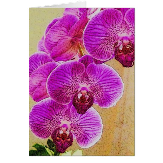Orchid Promises can be personalized Card