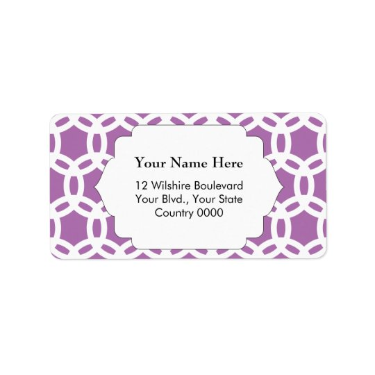 Orchid Purple Pattern Label