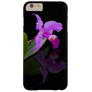 Orchid Reflected on Black Barely There iPhone 6 Plus Case