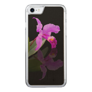 Orchid Reflected on Black Carved iPhone 7 Case