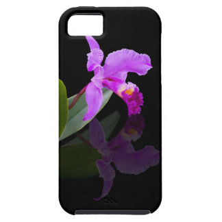 Orchid Reflected on Black IPhone 5 Case