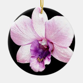 Orchid Round Ceramic Ornament