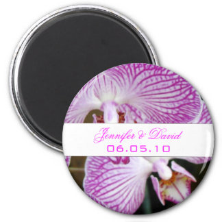 Orchid Save the Date Magnet