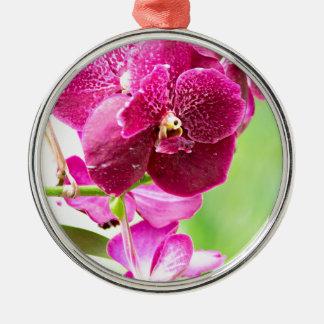 orchid Silver-Colored round ornament