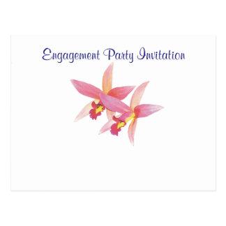 Orchid Simple Elegant Engagement Party Postcard